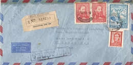 Argentinie Luchtpostbrief Uit 1959 Aangetekend Met 4 Zegels (781) - Sin Clasificación