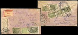 3768 Russia AIRMAIL Perekopovka UKRAINE To Tallinn ESTONIA 1931 Cancel Registered Cover Via Leningrad Pmk - Briefe U. Dokumente
