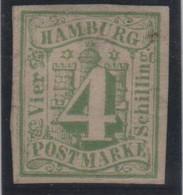 Allemagne Hambourg Michel 5a (Yvert 5) (*) 4 Vert-jaune - Hambourg