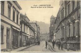 Cp OBERSTEIN - Rue De La Gare Et Le Château N° 1843 - Idar Oberstein