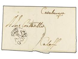 SPAIN: PREPHILATELIC MARKS  DP04 ARAGON - ...-1850 Prefilatelia