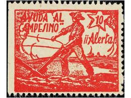 SPANISH CIVIL WAR.REPUBLICAN  POLITICAL LABELS - Emisiones Repúblicanas