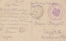 Austria Feldpost FP # 304 Postcard Sent To Osijek Croatia 1915 - Covers & Documents