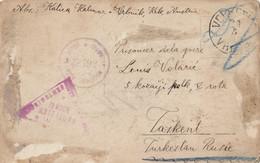 Austria Croatia Feldpost Postcard Sent From Vrbnik Krk To POW Camp In Tashkent Russia , Censored - Croatie