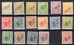 Luxembourg 1908-19,tpde1906-07 Surchargés, Se 92 / 112*(manque 2 Fl), Cote 125 € - Service
