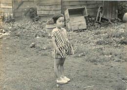 PETITE JAPONAISE ENFANT  PHOTO ORIGINALE 8 X 6 CM - Persone Anonimi