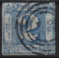 Allemagne Thurn Et Taxis Michel 33 (Yvert 43) O 6 Bleu - Tour Et Taxis