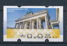 BRD / Bund ATM Automatenmarke Mi. 6 0,08 Euro Gest. Brandenburger Tor Berlin - Distribuidores