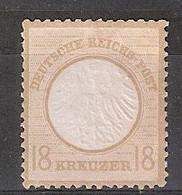 Allemagne Empire Michel 11 (Yvert 11) (*) Aigle En Relief Petit écusson Bistre - Neufs