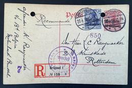 Postkaart Recommande OC4  BRUSSEL 1 Freigegeben Auslandstelle Aachen - [OC1/25] Gen.reg.