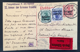 Postkaart Expres OC2+4  ST JOSSE TEN NOODE 1E - [OC1/25] Gen.reg.