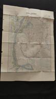 Ancienne Carte De L' Indochine De 1951 Svay Rieng Cambodge Dressée Par Le Service Géographique De La Marine Z1 - Geographical Maps