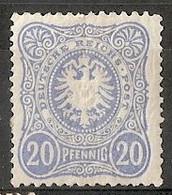 Allemagne Empire Michel 42b (Yvert ) * Aigle Héraldique 20 Pf Bleu-laiteux - Neufs