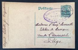 Postkaart 5c - SOLRE SUR SAMBRE - Uberwachungsstelle Charleroi Gepruft - [OC1/25] Gen.reg.