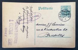 Postkaart 5c - CINEY - PostUberwachungsstelle Namur - [OC1/25] Gen.reg.