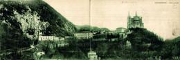 Covadonga Vista General Postal Doble    ASTURIAS  ESPAÑA - Asturias (Oviedo)