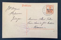 Postkaart 8c - JODIGNE GELDENAKEN - Militarisch Uberwachungsstelle NAMUR - [OC1/25] Gen.reg.