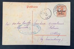 Postkaart 8c - CHARLEROI 1 (Belgien) - OLLOY - Militarisch Uberwachungsstelle Charleroy - [OC1/25] Gen.reg.