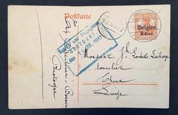 Postkaart 8c - BASTNACHTE BASTOGNE BELGIEN - Gepruft Une Freigegeben Bastogne - [OC1/25] Gen.reg.