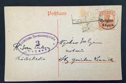 Postkaart 8c - LIEDEKERKE - Militarische Uberwachungsstelle Brussel 3 - [OC1/25] Gen.reg.