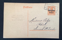 Postkaart 8c -  SINT KWINTENS LENNIK - [OC1/25] Gen.reg.