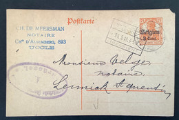 Postkaart 8c - UKKEL & SINT KWINTENS LENNIK - [OC1/25] Gen.reg.