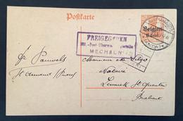 Postkaart 8c - SINT AMANDS (ANTW) - Freigegeben Mil PostUberwachungsstelle MECHELEN - [OC1/25] Gen.reg.