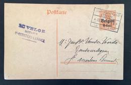 Postkaart 8c - SINT KWINTENS LENNIK) - [OC1/25] Gen.reg.