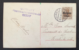 Postkaart OC11 - DIEST (BELGIEN) - Gepruft Uberwachungsstelle DIEST - [OC1/25] Gen.reg.