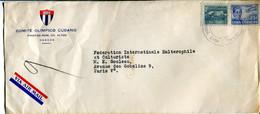 Cuba (1953) - Aerogramma Per La Francia - Sin Clasificación
