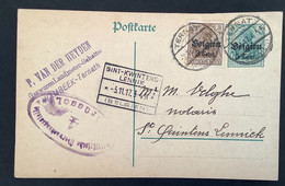 Postkaart Bijfrankering OC11 - TERNATH - ST KWINTENS LENNIK - Militärische Uberwachungsstelle 4 Brussel - [OC1/25] Gen.reg.