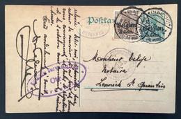 Postkaart Bijfrankering OC11 - HERNE BIJ EDINGEN (BELGIEN) - Militärische Uberwachungsstelle CTR BRUSSEL - [OC1/25] Gen.reg.