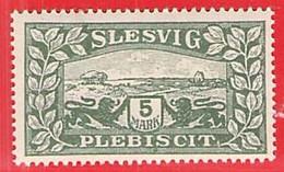 MiNr.13 X (Falz) Deutschland Deutsche Abstimmungsgebiete Slesvig - Coordination Sectors
