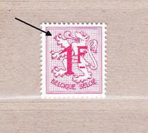 1959 Nr 1027Bb** Of R6** Zonder Scharnier:1F Helrood-wit Papier (Licht Gewijzigd Type:raster) - 1951-1975 Lion Héraldique