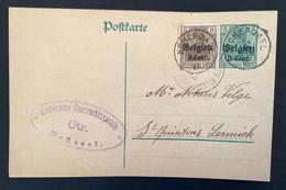 Postkaart Bijfrankering OC11 - SCHEPDAEL - Militärische Uberwachungsstelle CTR BRUSSEL - [OC1/25] Gen.reg.