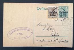 Postkaart Bijfrankering OC11 - JETTE - Militärische Uberwachungsstelle CTR BRUSSEL - [OC1/25] Gen.reg.