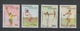 Togo 1988 JO Séoul 1230-1231 Et PA 651-652 4 Val ** MNH - Togo (1960-...)