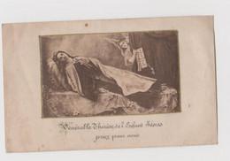 Ancienne Estampe Collée Sur Parchemin(vénérable Thérése De L'enfant Jésus Priez Pour Nous) - Religion & Esotérisme