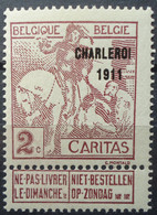 N°102 Mnh** Cote 75 Euros - 1910-1911 Caritas