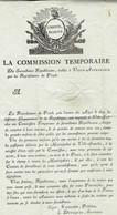 """Nndatée - Lettre à En-tête De """" La Commission Temporaire De Surveillance Républicaine De VILLE-AFFRANCHIE ( Lyon ) - 1701-1800: Precursors XVIII"""