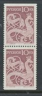 Sweden 1961 Facit # 528 BB-pair, Picture On Stone. See Description, MNH (**) - Ungebraucht