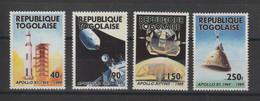 Togo 1989 Espace 1276-1279 4 Val ** MNH - Togo (1960-...)