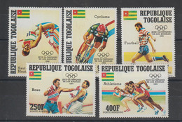 Togo 1984 JO Los Angeles PA 502-506 5 Val ** MNH - Togo (1960-...)