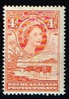 BECHUANALAND / Neufs**/MNH**/ 1954/58 - Série Courante Elizabeth II / YVT N°97 - MI N°133 - 1885-1964 Herrschaft Von Bechuanaland