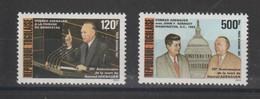 Togo 1987 K Adenauer PA 637-638 2 Val ** MNH - Togo (1960-...)