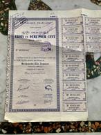 RÉPUBLIQUE  FRANÇAISE  DETTE  PUBLIQUE --------- Rente  3 1/2 % 1942 - 1952 - Ohne Zuordnung