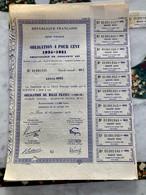 RÉPUBLIQUE  FRANÇAISE  DETTE  PUBLIQUE --------- Rente  4 % 1934 - 1951 - Ohne Zuordnung