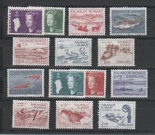 GROENLAND - Années Complètes ** 1981 & 1982 - Yvert  114 à 127 - Komplette Jahrgänge