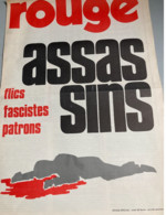 Rouge (Journal De La Ligue Communiste) : Assassinat De Pierre Overney - Renault (1972) (4 Pages-N° Spécial) - Non Classificati