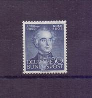 Bund 1953 - Justus Von Liebig - MiNr. 166 Postfrisch** - Michel 35,00 € (461) - Unused Stamps